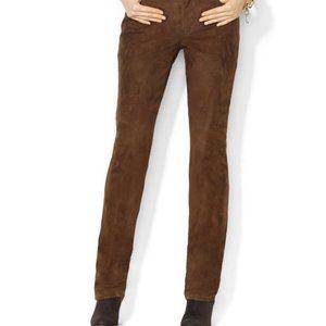 NWT Loft Brown Suede Pants